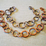 Copper Link Bracelets w/Patina