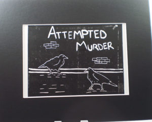 B&W Attempted Murder Crows